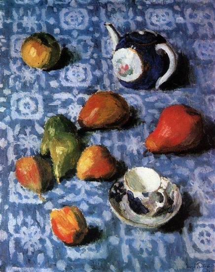 Pears_on_a_Blue_Tablecloth_by_Igor_Grabar,_1915