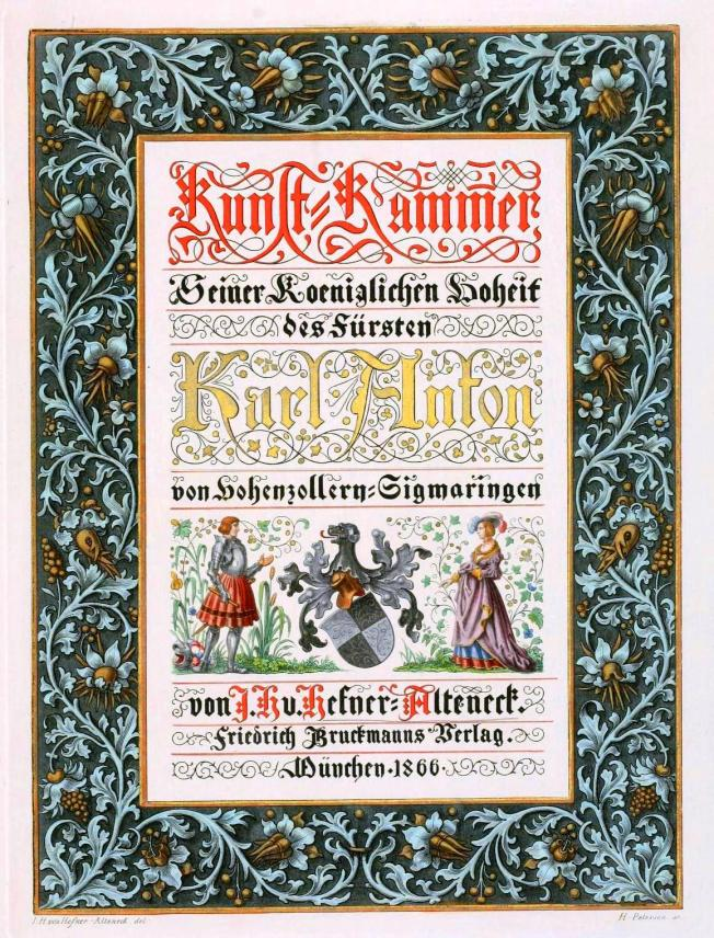 Printed matter - Book cover - German ornamentation