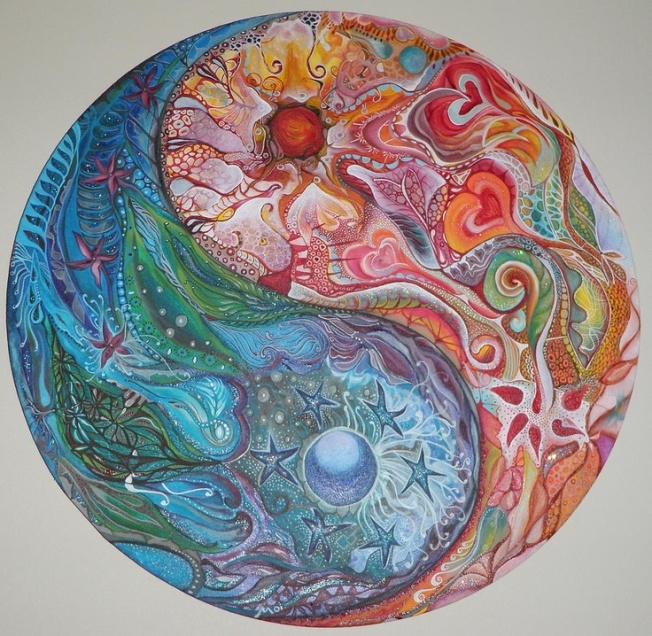 Yin and Yang Mandala